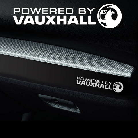 2x Vauxhall Dashboard Powered By Vinyl Decal