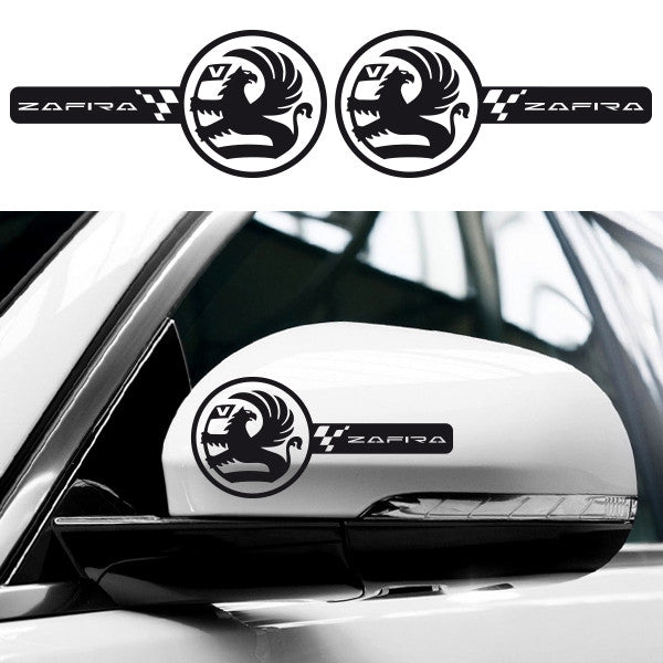 2x Vauxhall Zafira Custom Wing Mirror Vinyl Decals