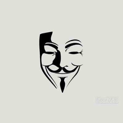 2x V for Vendetta Face Mask Vinyl Transfer Decal