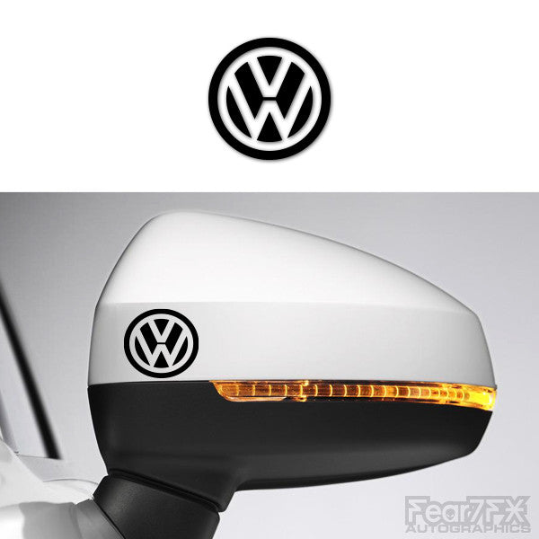 2x VW Logo V1 Side Mirror Vinyl Transfer Decals