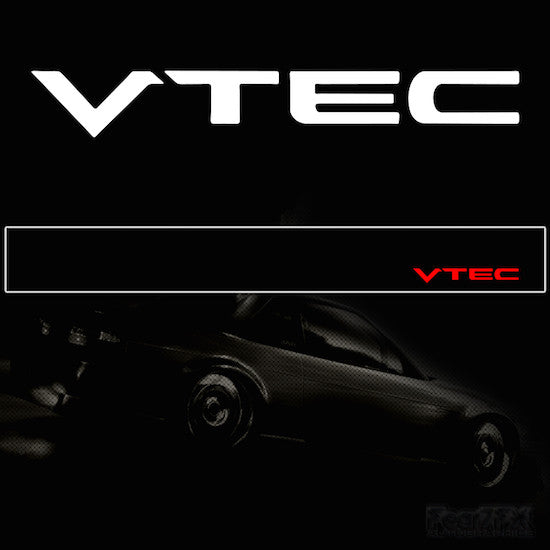 VTEC V2 Vinyl Windscreen SunStrip Any 2 Colours