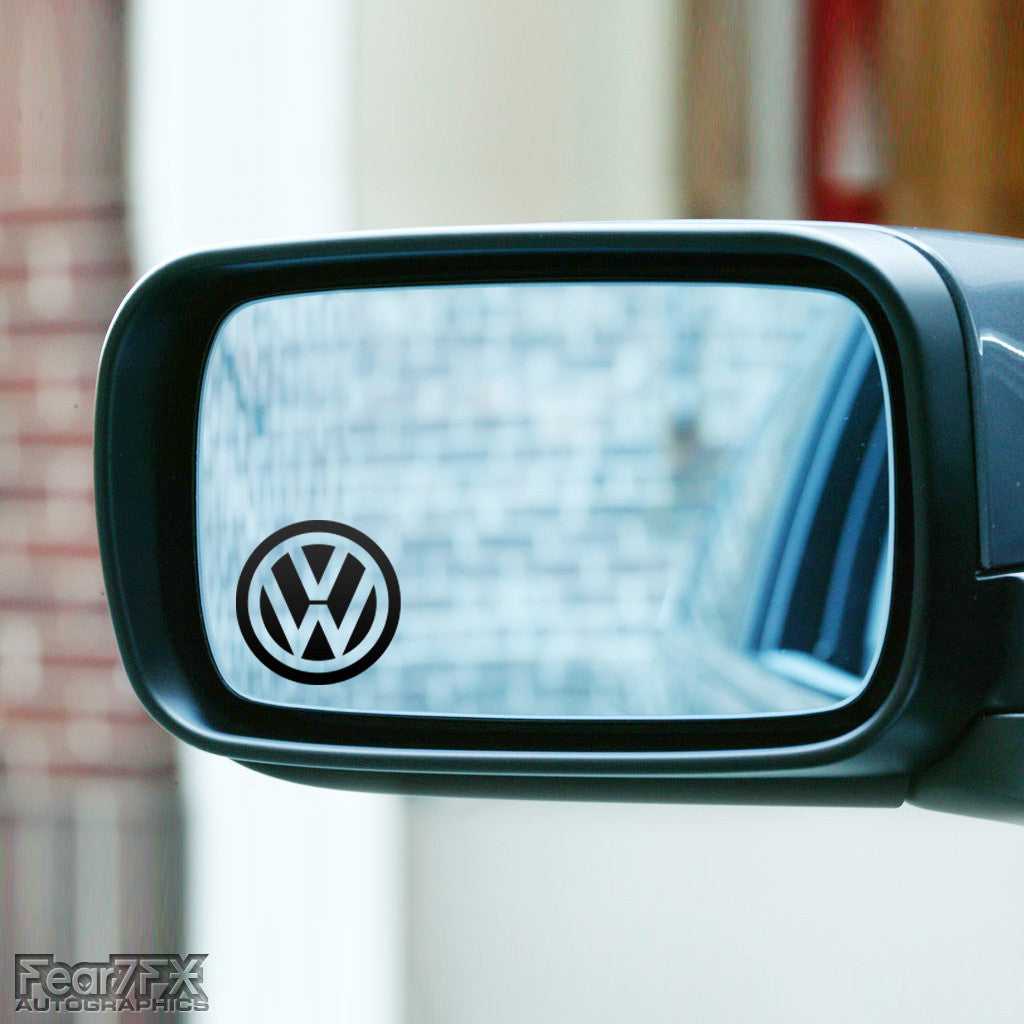 2x VW Logo Wing Mirror Vinyl Transfer Decals