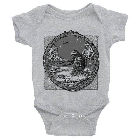 ICE FISHING T Infant Bodysuit ~ $$$ to Leo's DiCaprio Foundation