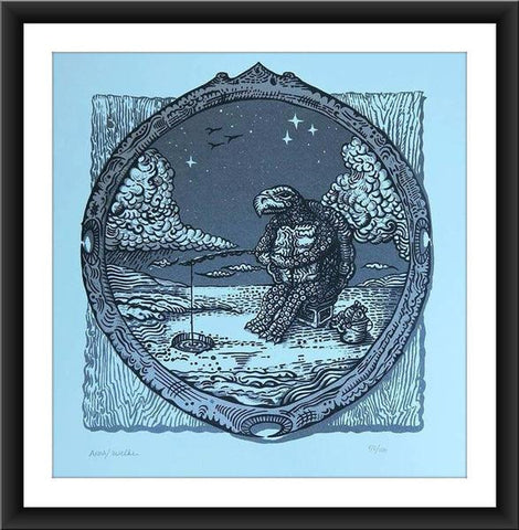"Anna Witt & David Welker ""Ice Fishing"" Print"