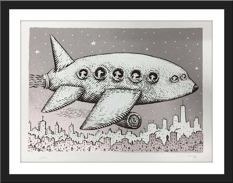 "Anna Witt & David Welker ""Dogs on a plane"" Print"