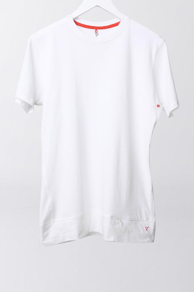Performance Slim Fit -  luxury cotton mens slim fit t-shirt - white