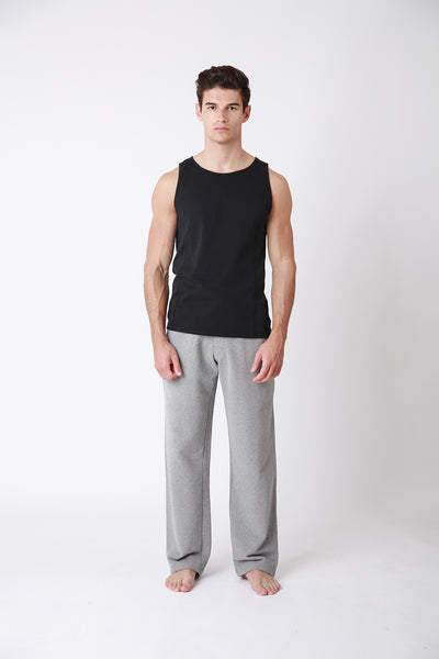 Sweatpants - luxury cotton mens sweatpants - grey