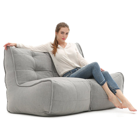 Twin Couch Keystone Grey