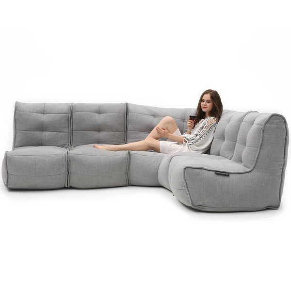 L Sofa - Keystone Grey