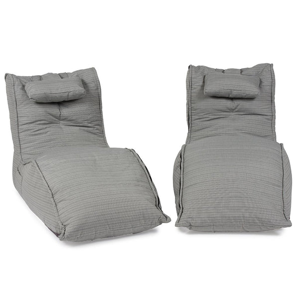 Twin Avatar Deluxe Lounger - Silverline