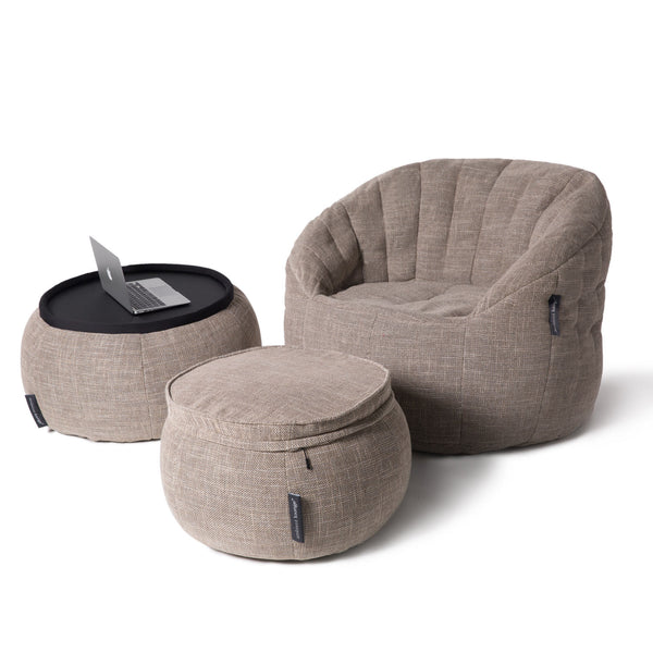 Wing Ottoman - Eco Weave