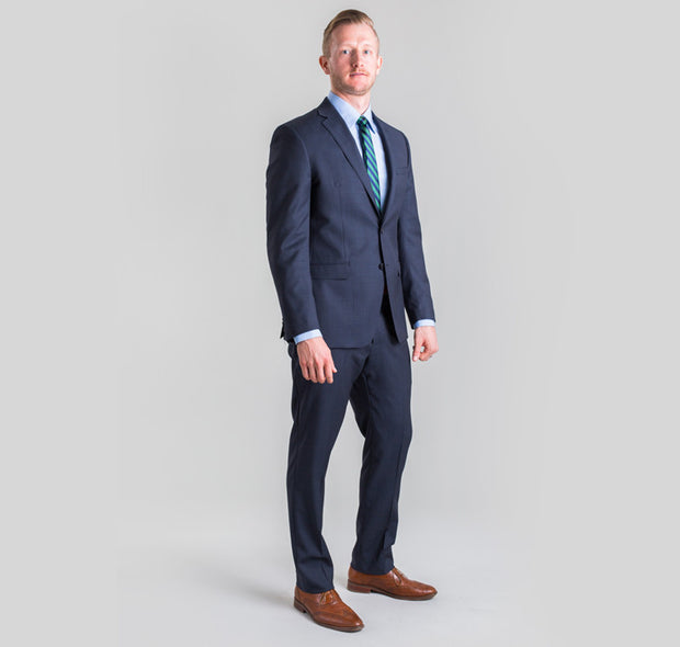 Pursuit Navy Pinstripe Small Batch Suit