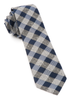 Navy Splattered Gingham Tie