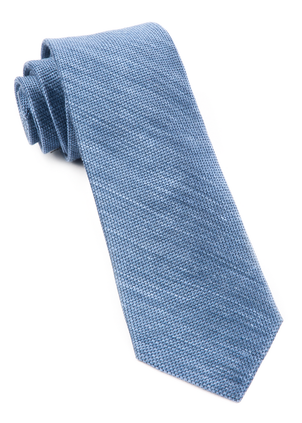 Slate Blue Festival Textured Solid Tie