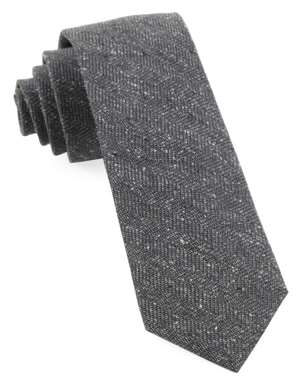 Gray Threaded Zig Zag Tie