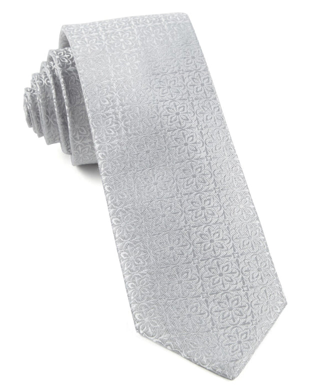 Light Silver Opulent Tie