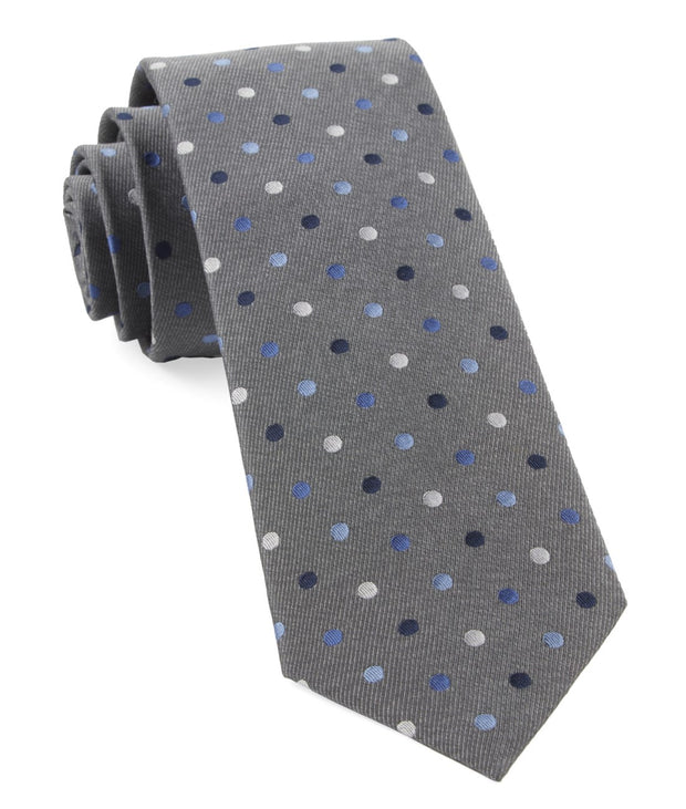 Gray Spree Dots Tie