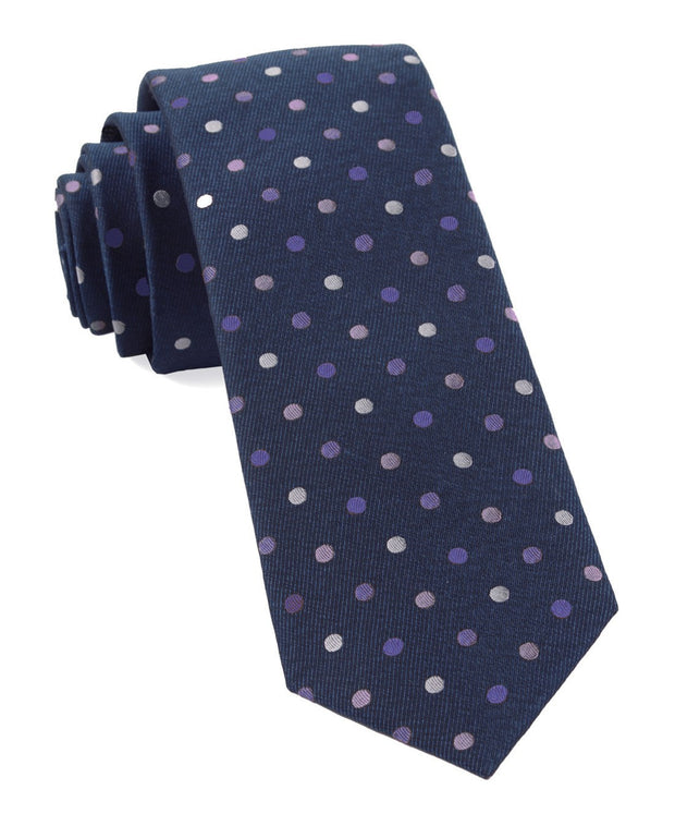 Purples Spree Dots Tie