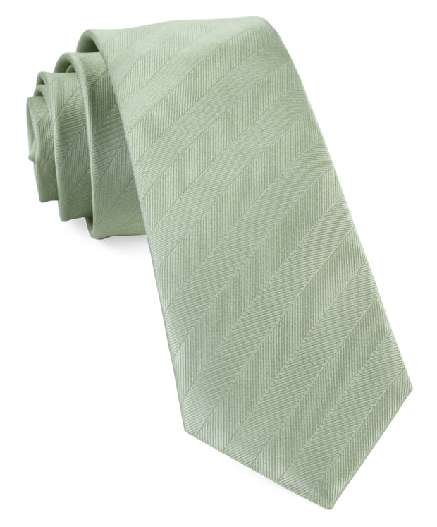 Sage Green Herringbone Vow Tie