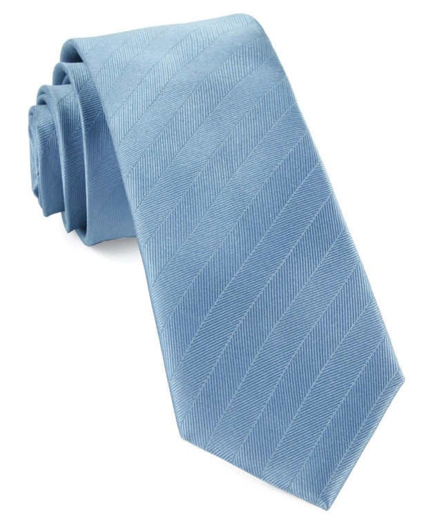 Steel Blue Herringbone Vow Tie