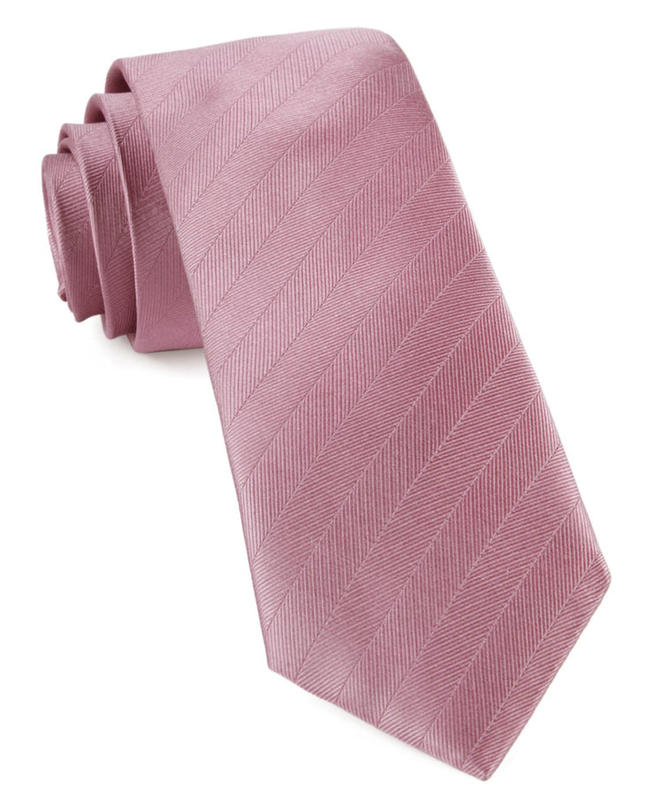 Dusty Rose Herringbone Vow Tie
