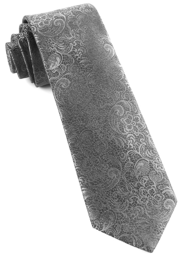 Charcoal Ceremony Paisley Tie