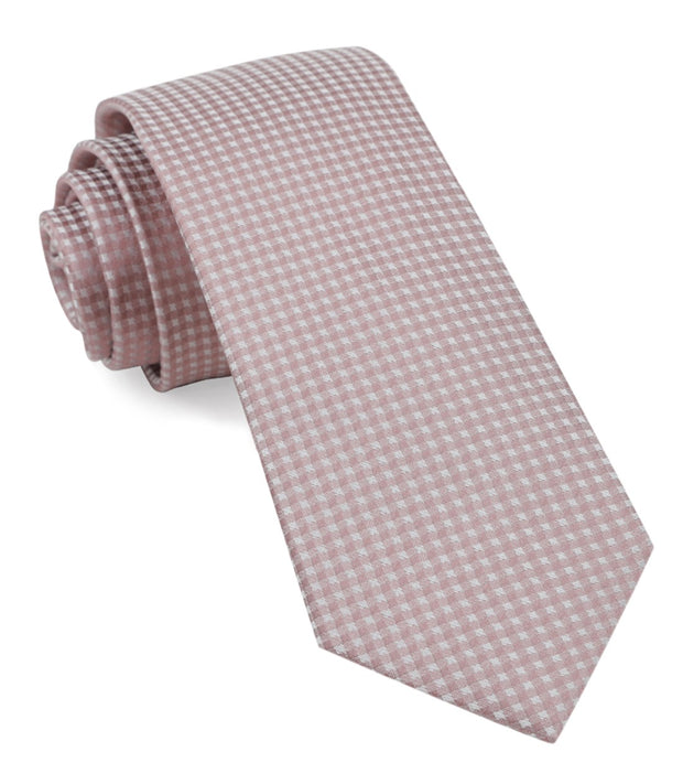 Mauve Stone Be Married Checks Tie