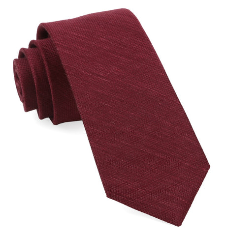 Burgundy Jet Set Solid Tie