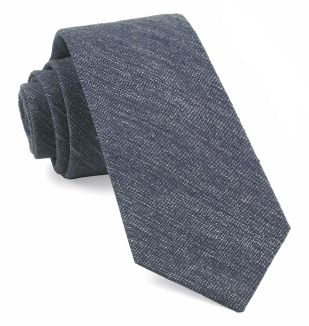 Navy West Ridge Solid Tie