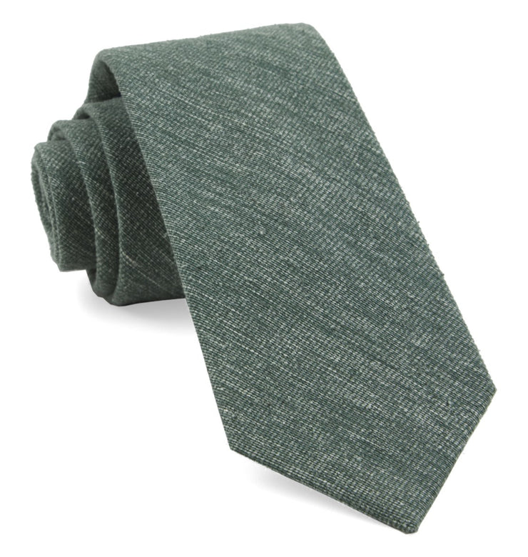 Hunter Green West Ridge Solid Tie