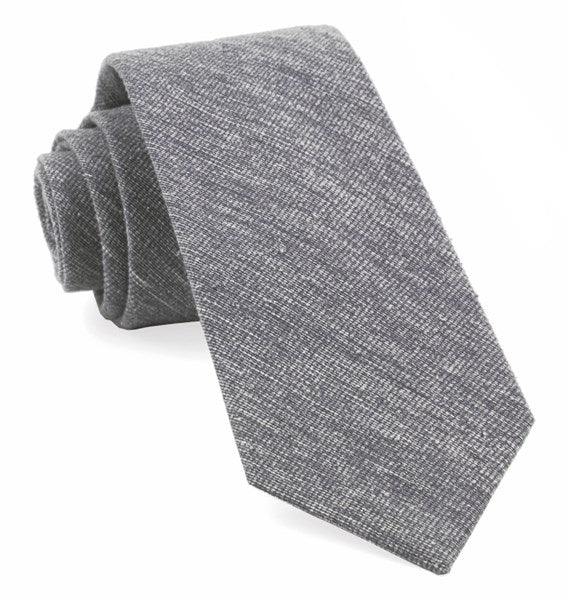 Gray West Ridge Solid Tie