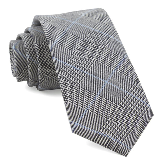 Black Glens Falls Plaid Tie
