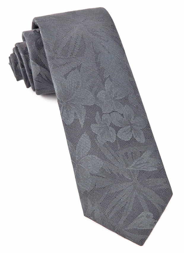 Charcoal Key West Cotton Tie