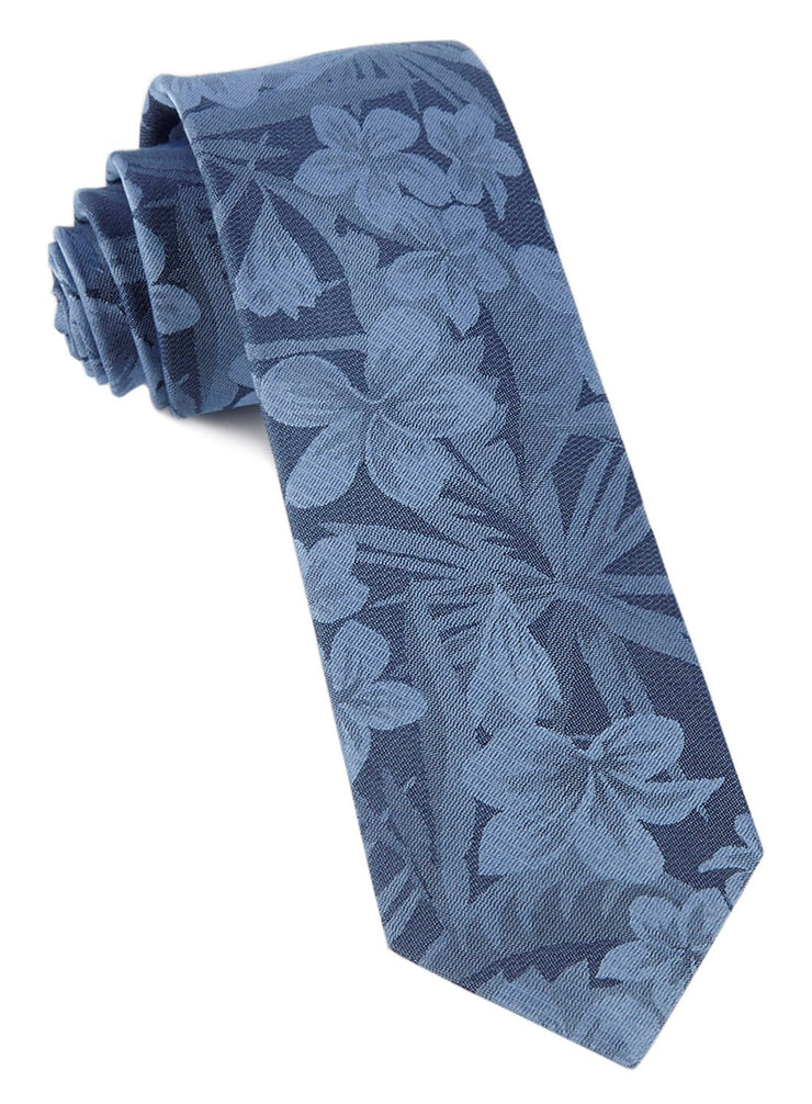 Deep Serene Blue Key West Cotton Tie