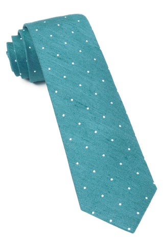 Teal Bulletin Dot Tie