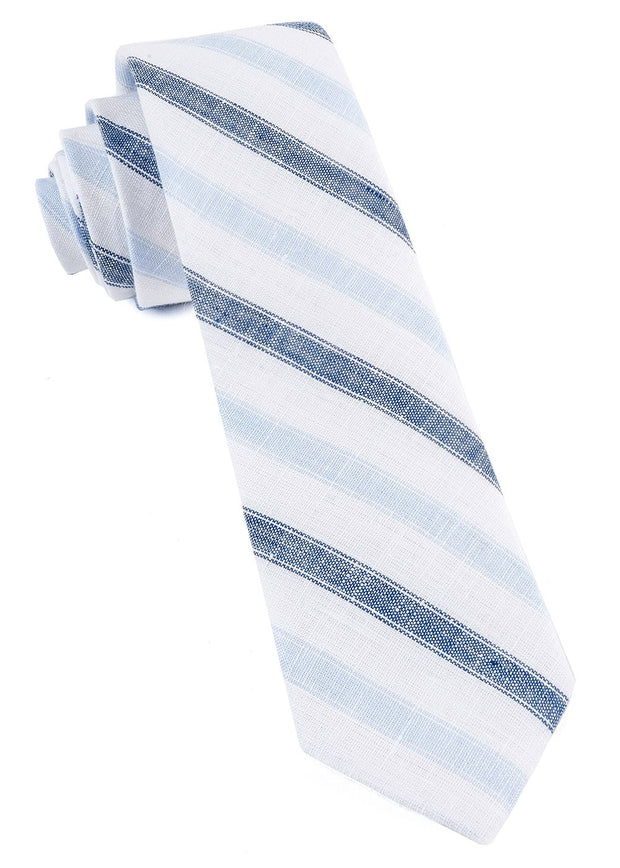 Navy Row Stripe Tie