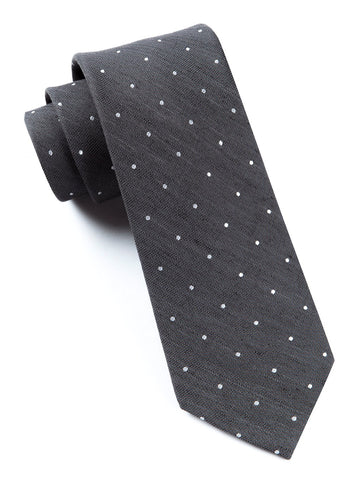 Gray Bulletin Dot Tie