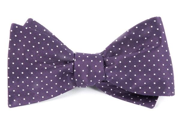 Eggplant Mini Dots Bow Tie