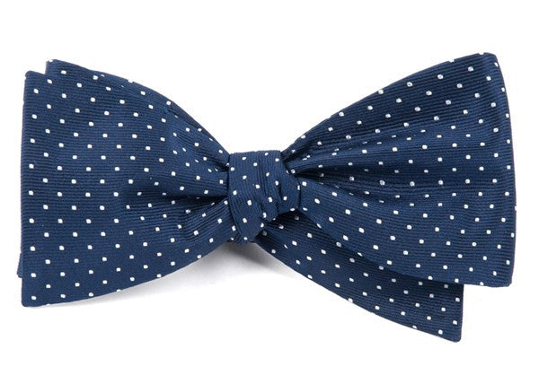 Navy Mini Dot Bow Tie
