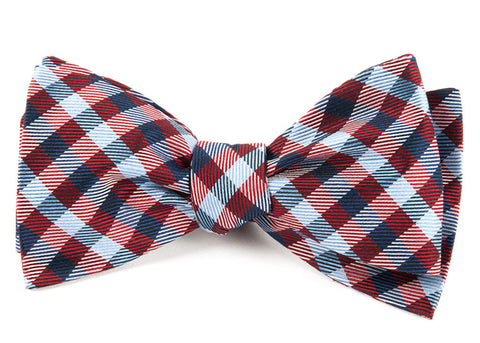 Red Polo Plaid Bow Tie