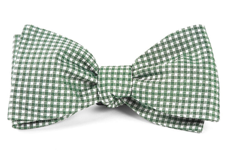 Hunter Green Bahama Checks Bow Tie