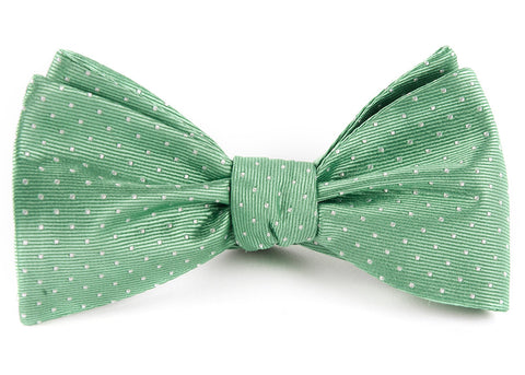 Mint Mini Dots Bow Tie
