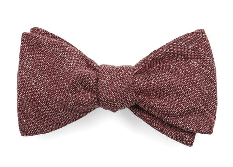 Threaded Zig Zag Light Raspberry Bow Tie
