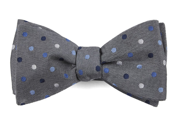 Gray Spree Dots Bow Tie