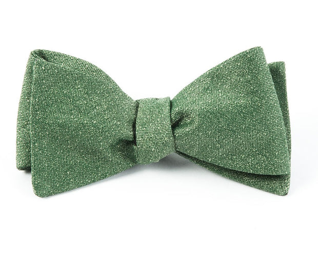 Grass Linen Stitched Bow Tie