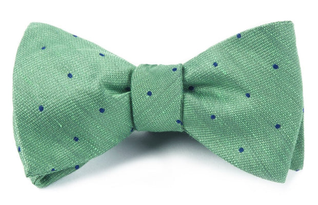 Kelly Green Bulletin Dot Bow Tie