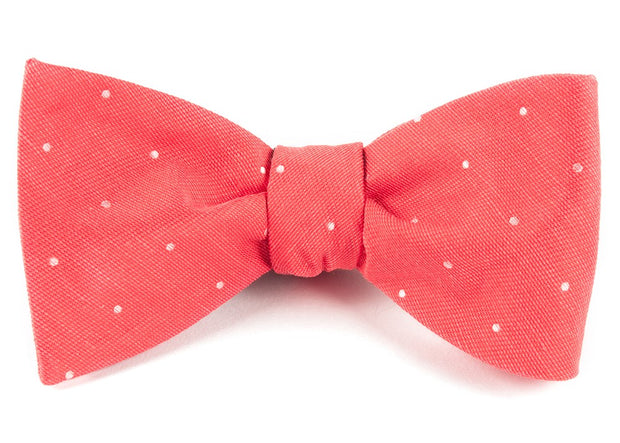 Coral Bulletin Dot Bow Tie
