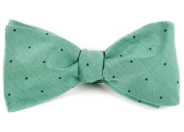 Mint Bulletin Dot Bow Tie