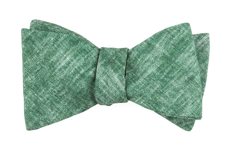 Green Freehand Solid Bow Tie