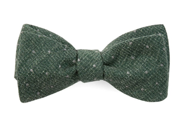 Hunter Green Redwood Dot Bow Tie